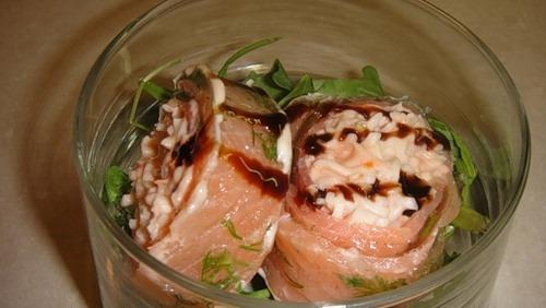 Рулет з норвезького лосося (Rollito de salmon)