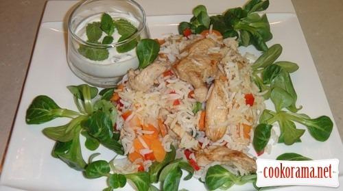 Курча з рисом і йогуртом (Pollo con arroz y yogurt)