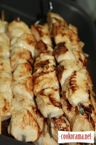Shashlik from chicken