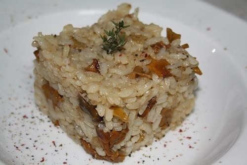Rice with chanterelles (Arroz con setas)