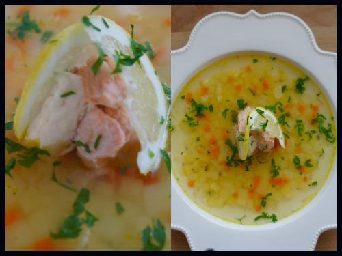 Прозрачный рыбный суп с имбирем