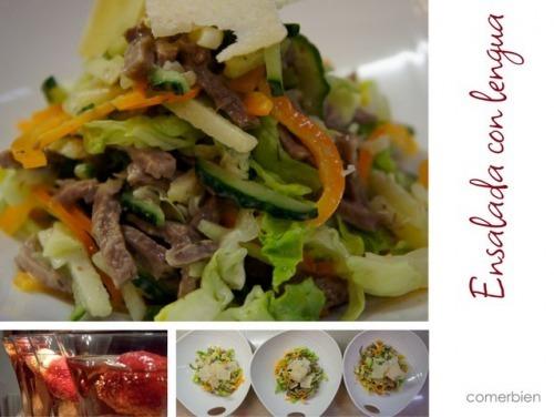 Хрусткий салат з язиком