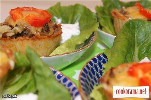 Корзиночки из теста для дерунов или новый взгляд на любимое блюдо