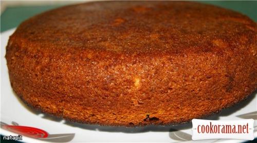 Постный бисквитный тортик-пирог