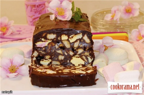 Chocolate «Terrine» or quick dessert without baking
