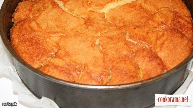 Пирог с нектаринами.