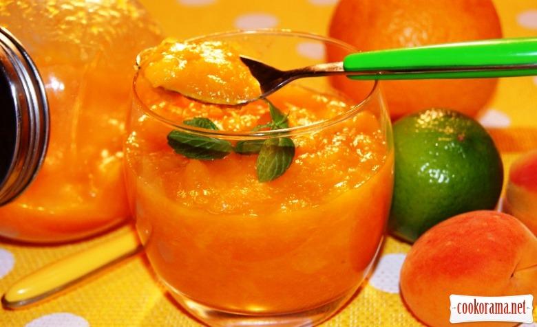 Манго-абрикосовый конфитюр для выпечки.