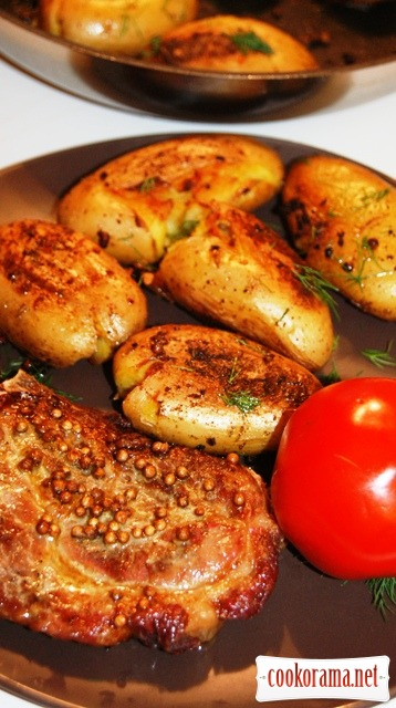 «Запечeна» картопля (Pommes de terre fondantes)