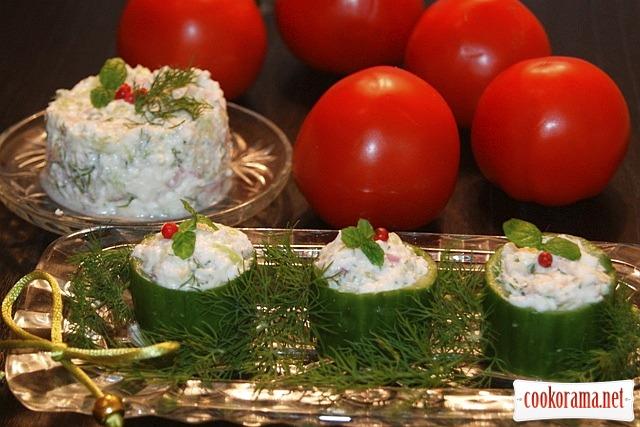 Египетский салат с сыром фета.