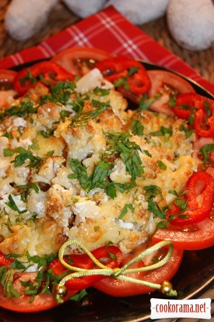 Тёплый салат в итальянском стиле.