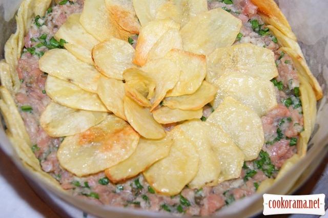 Итальянская картофельная «шарлотка»