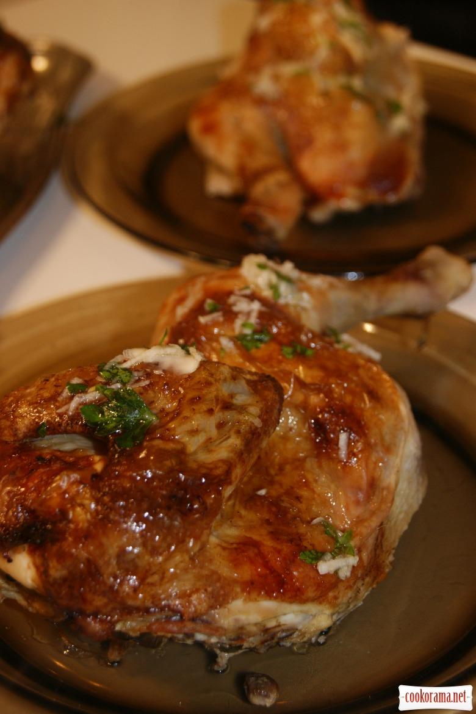 Цыплята с чесночным соусом