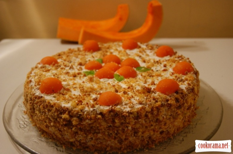 """Торт """"Шифоновая тыква"""""""