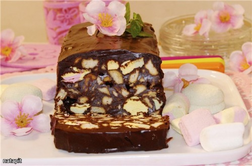 "Chocolate ""Terrine"" or quick dessert without baking"