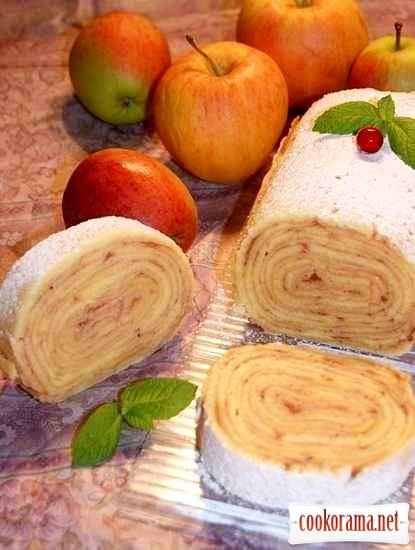Рулет с яблоками «Bolo de Rolo»