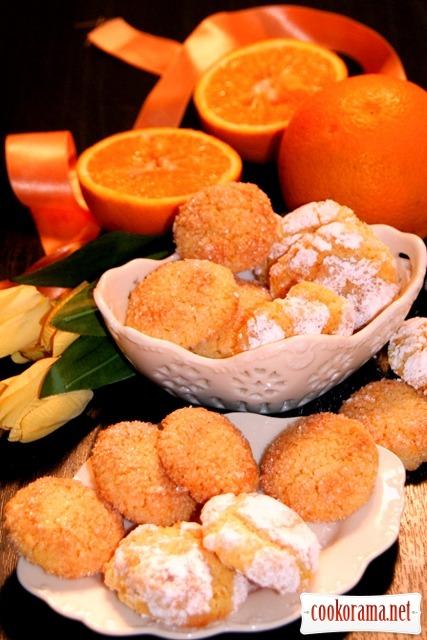 Миндально-апельсиновое печенье без муки