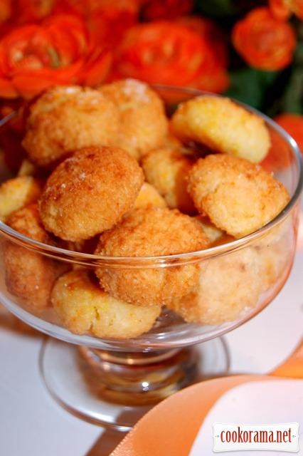 Быстрое кокосовое печенье с апельсиновым ароматом