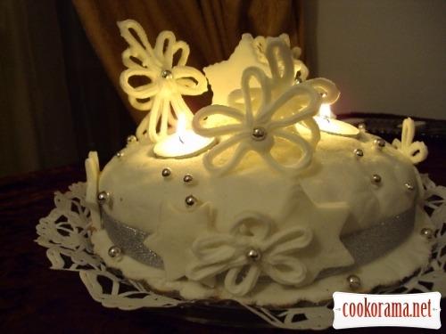 Рождественский кекс «Зимняя сказка»