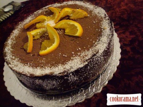 Пісний торт «Апельсиновий ШОК»