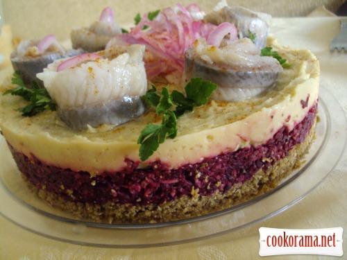 Закусочный тарт со свеклой и нутом