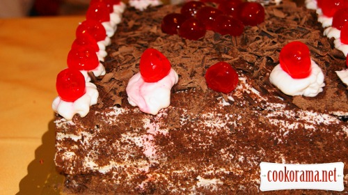 Торт «BLACK FOREST» (Черный лес) постный