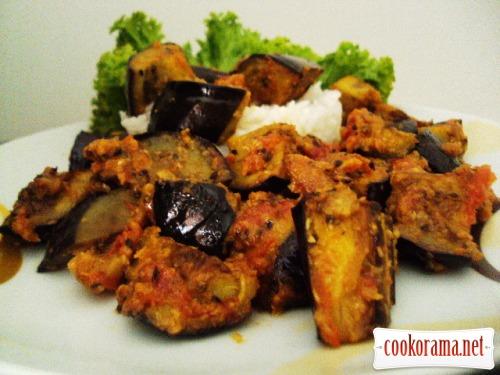 Baingan Atsary (баклажаны, приготовленные в пикантном стиле)