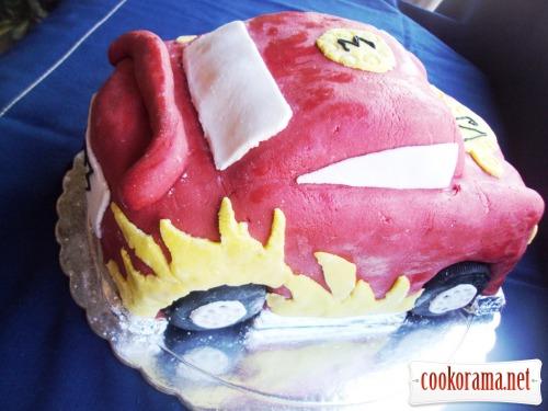 Торт-машина «McQueen» (Молния)