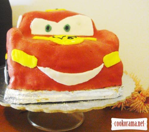Торт-машина «McQueen» (Блискавка)