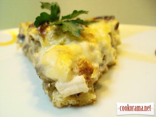 Тарт с курицей и грибами