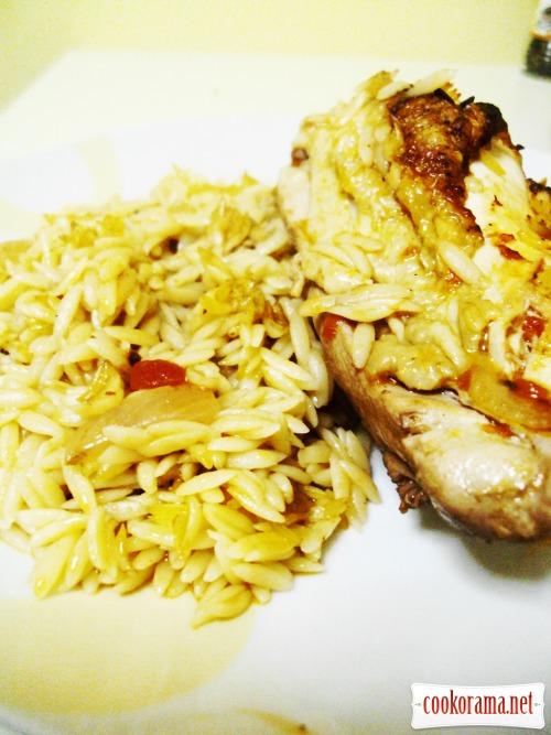 Курица с пастой орзо (юветси)