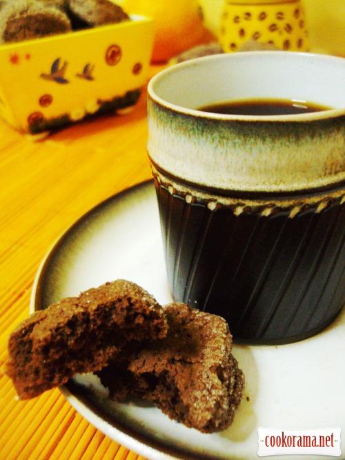 Шоколадное печенье с апельсиновым ароматом «Шайба»