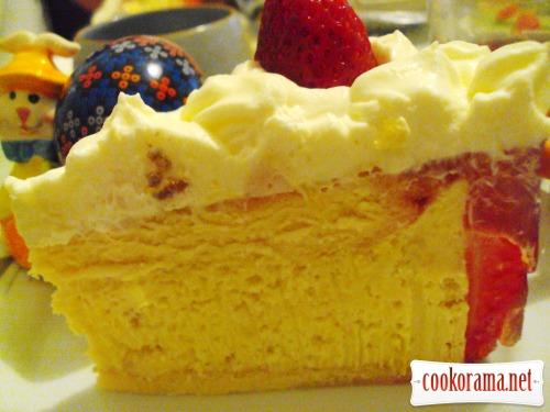 Полунично-манговий торт «Екзотик»