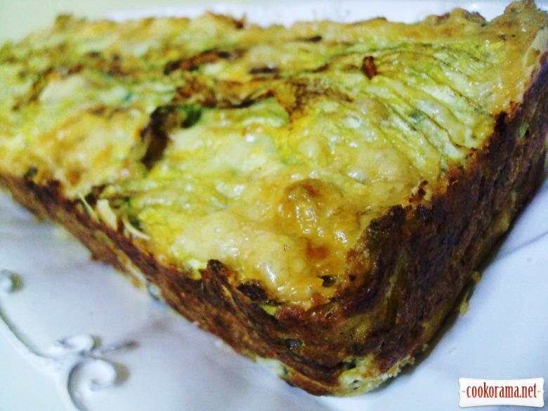 Кекс-запеканка с сыром и кабачками.