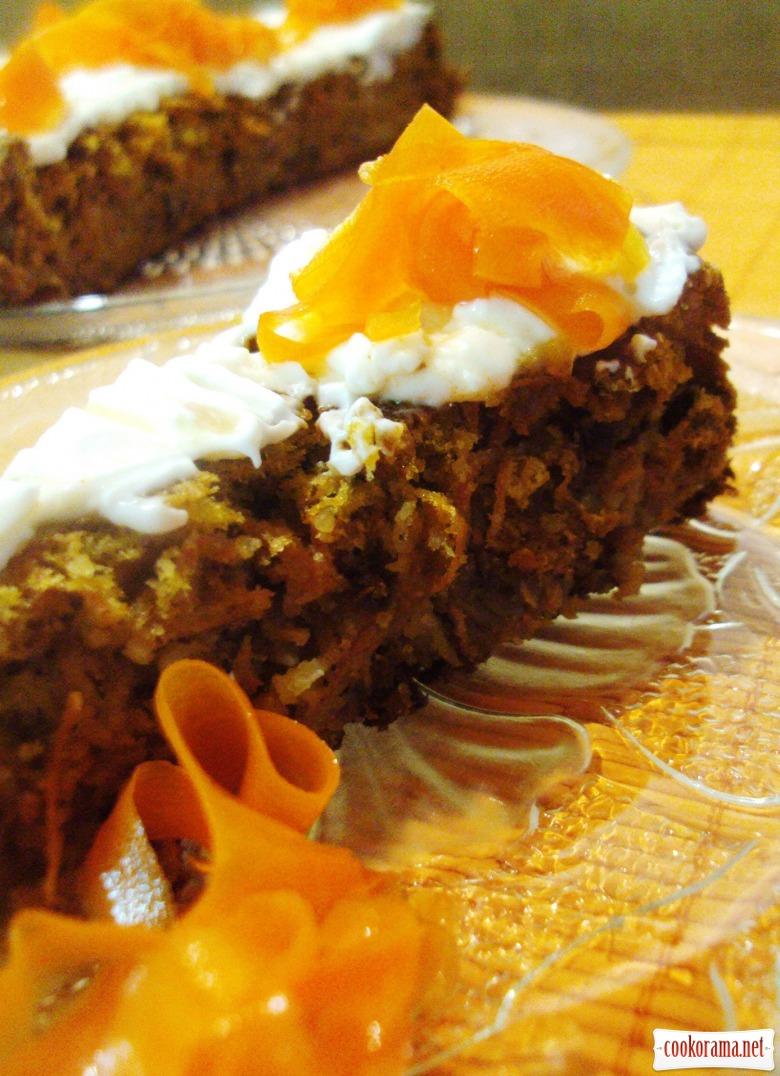 Швейцарский морковный торт