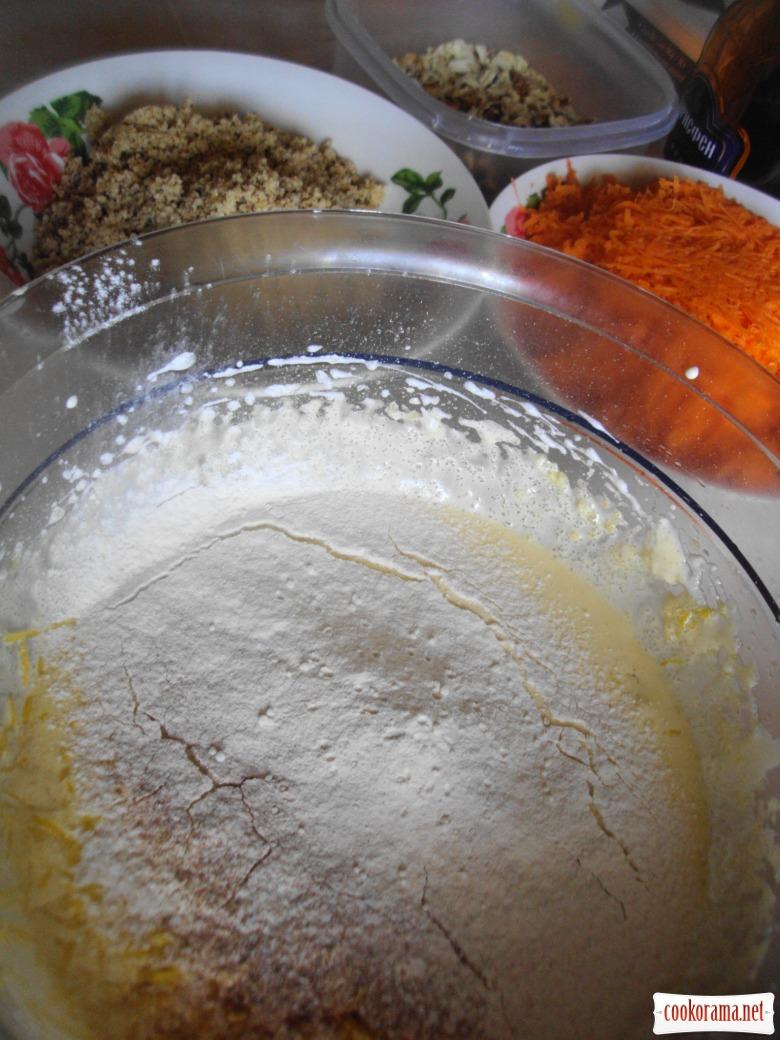 Швейцарский морковный торт.