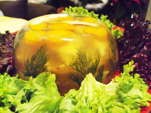 Aspic from cockerel