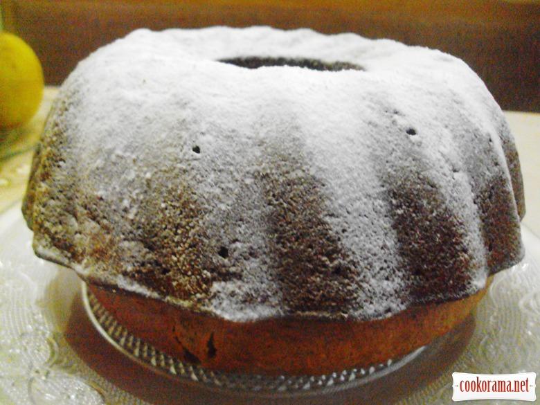 Тыквенный кекс-коврижка с орехами и изюмом