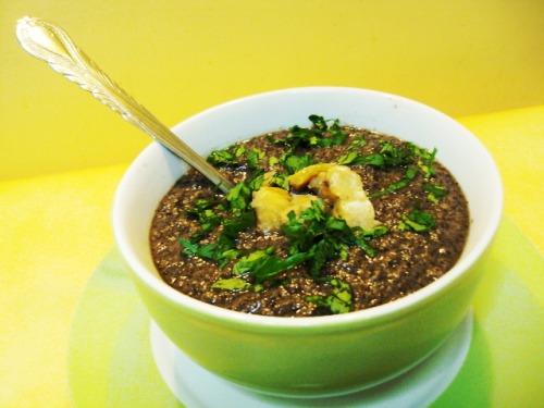 Бархатный грибной суп с каштанами