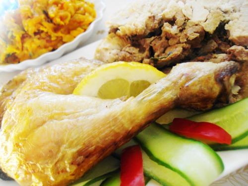 Фаршированная курица (рецепт выходного дня)