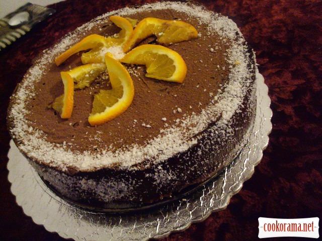 """Пісний торт """"Апельсиновий ШОК"""""""