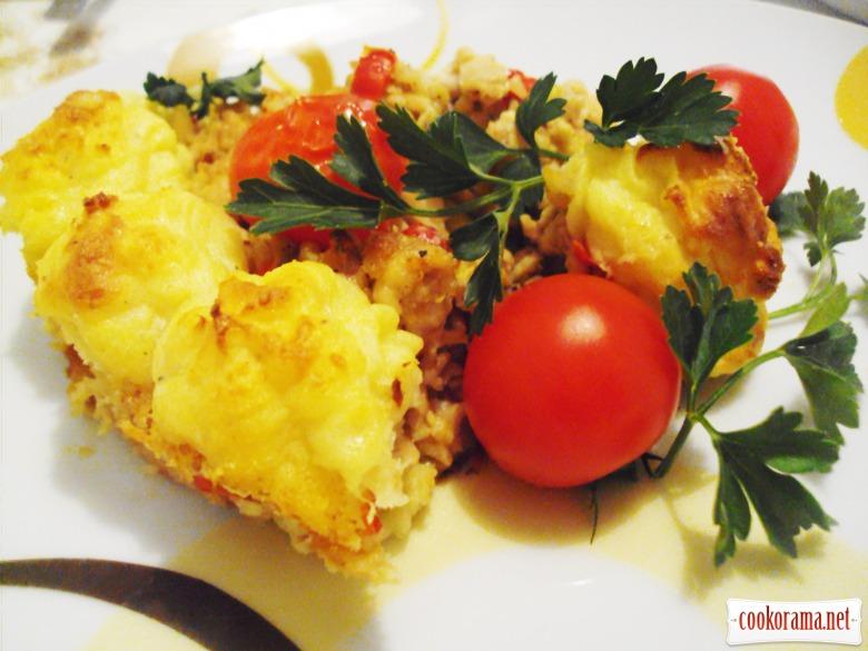 Картопляна запіканка з курячим фаршем