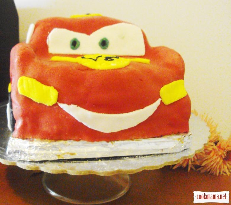 """Торт-машина """"McQueen"""" (Блискавка)"""