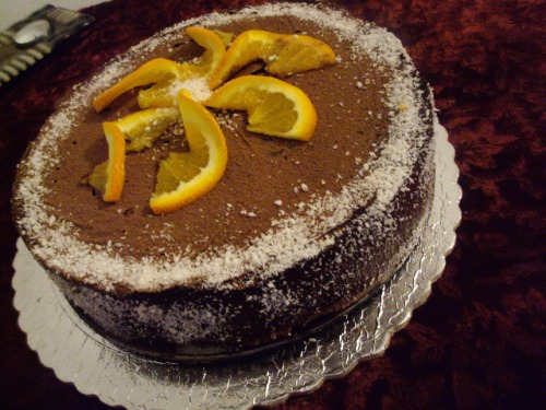 """Постный торт """"Апельсиновый ШОК"""""""