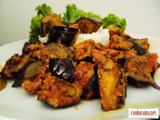Baingan Atsary (баклажани, приготовані в пікантному стилі)