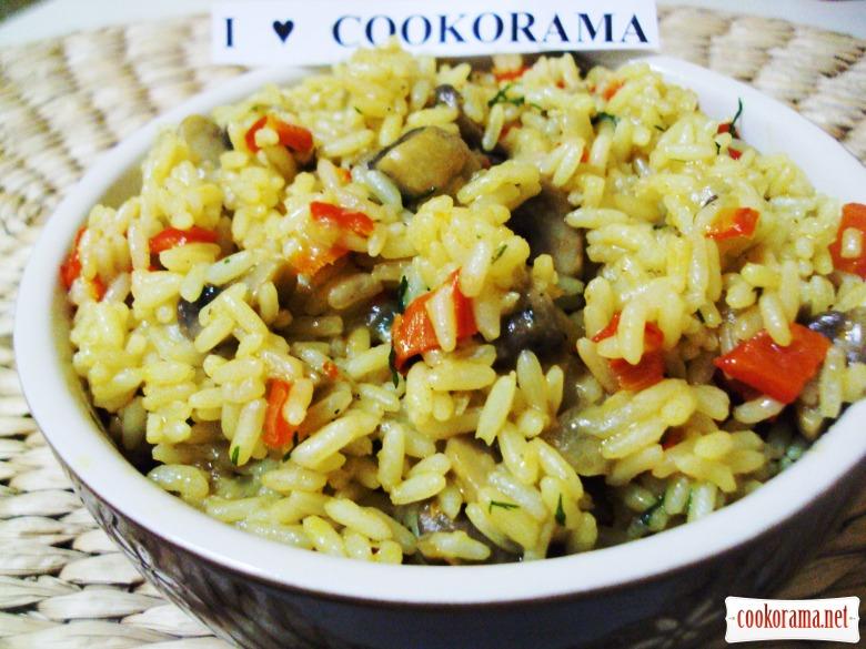 Рис с грибами и морковью рецепт 19