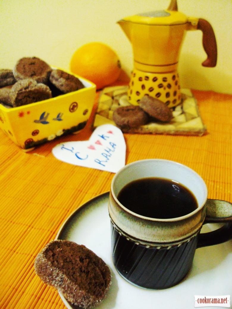 """Шоколадное печенье с апельсиновым ароматом """"Шайба"""""""