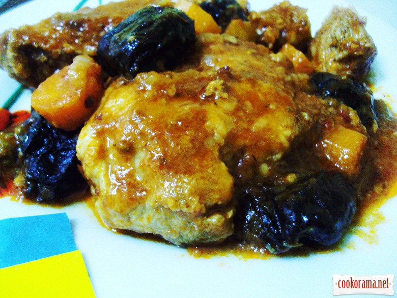 Pork with prunes