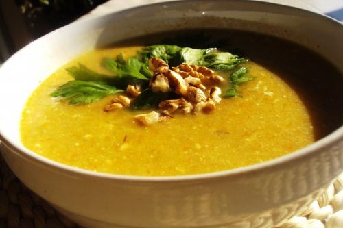 Оксамитовий овочевий суп-пюре з яблуками