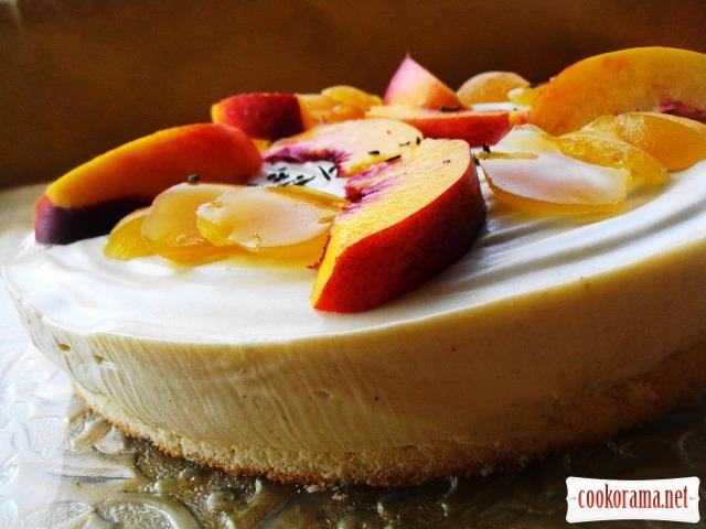 Персиковий баварезе з ароматом білого чаю