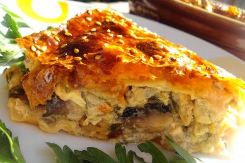 Пиріг з куркою і грибами, або ледачий курник